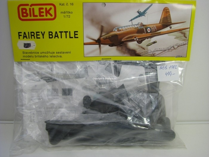 Fairey Battle stavebnice 1:72 Bílek